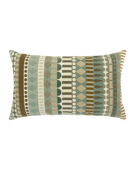 Deco Lumbar Sunbrella Pillow, Light Blue