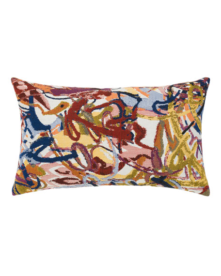 Graffiti Lumbar Sunbrella Pillow