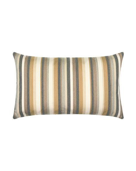 Elaine Smith Moda Stripe Lumbar Indoor/Outdoor Pillow