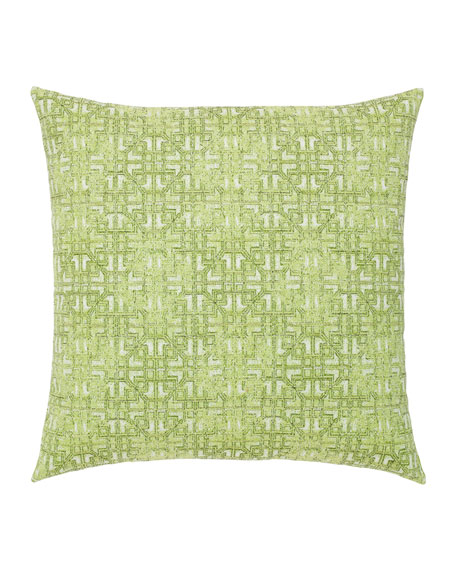 Gate Greenery Sunbrella Pillow, Green