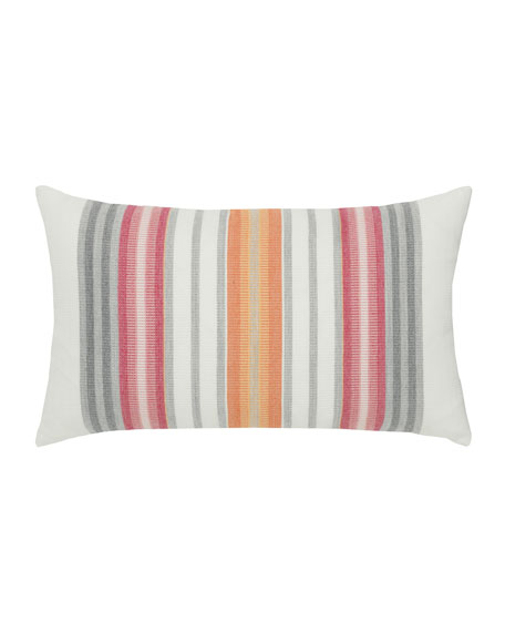Stripe Lumbar Sunbrella Pillow, Orange