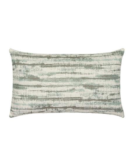 Linear Lumbar Sunbrella Pillow, Light Blue