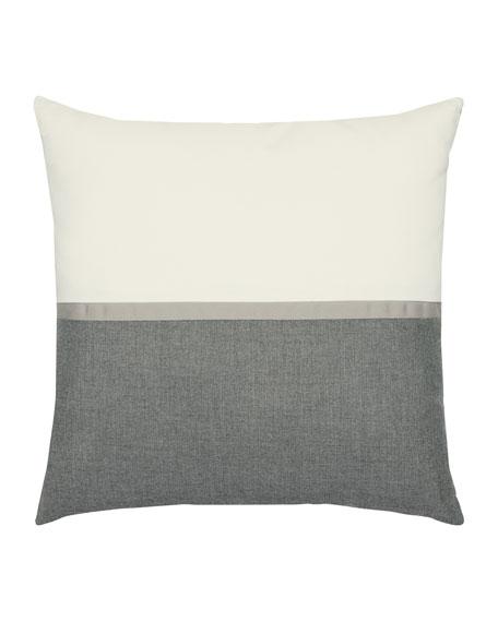 Elaine Smith Mono Sunbrella Pillow, Smoke