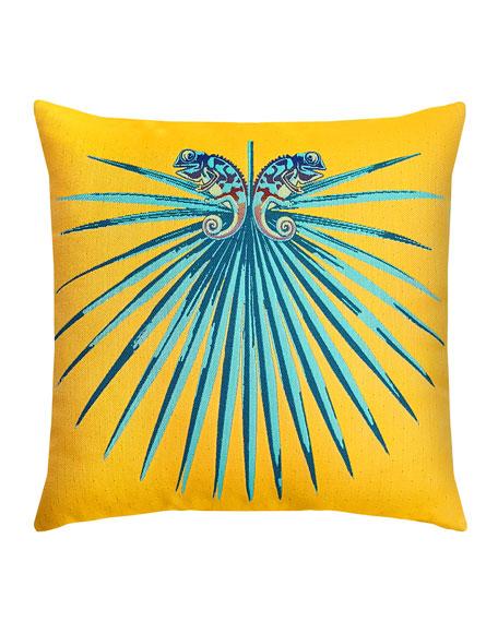 Chameleon Lagoon Sunbrella Pillow