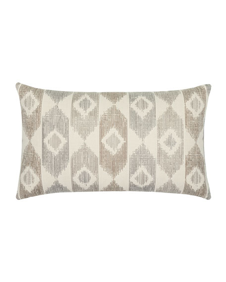 Elaine Smith Datuk Whisper Lumbar Sunbrella Pillow, Gray