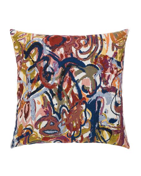 Graffiti Sunbrella Pillow