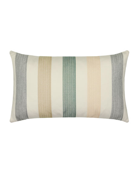 Axiom Lumbar Sunbrella Pillow, Ivory