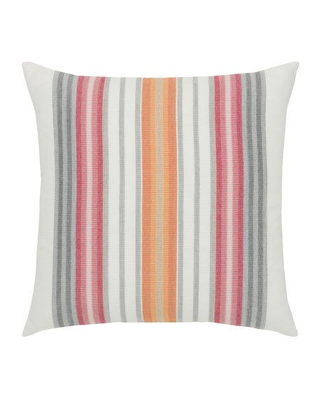 Stripe Sunbrella Pillow, Orange