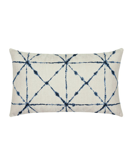 Trilogy Lumbar Sunbrella Pillow, Indigo