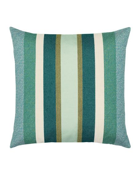 Stripe Sunbrella Pillow, Green