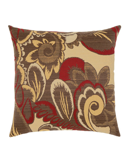 Floral Sunbrella Pillow, Yellow