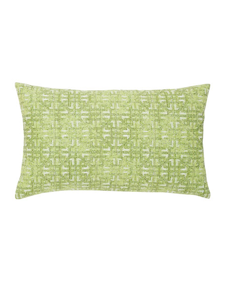 Gate Greenery Lumbar Sunbrella Pillow, Green