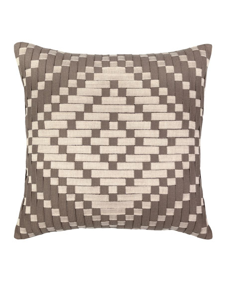 Diamond Sunbrella Pillow, Beige