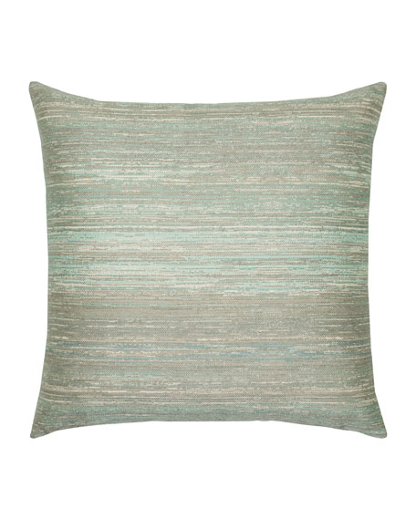 Textured Sunbrella Pillow, Light Blue