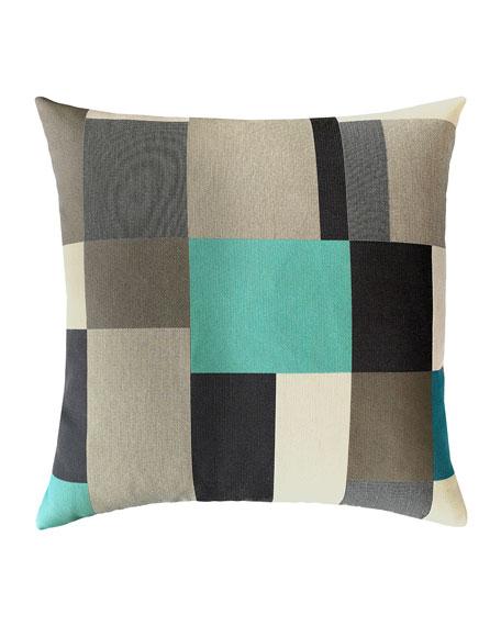 Elaine Smith Block Sunbrella Pillow, Black