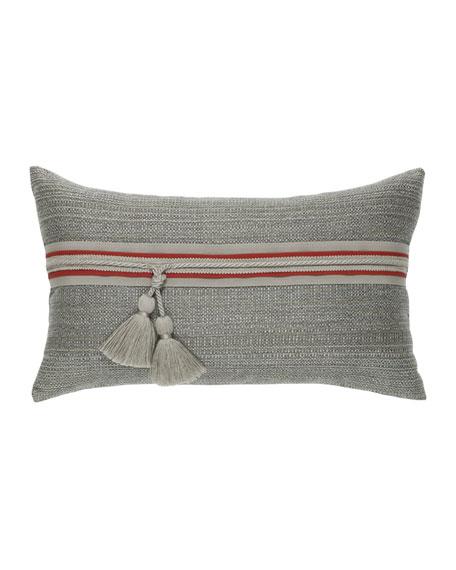 Textured Lumbar Sunbrella Pillow, Smoke