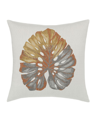 Metallic Leaf Sunbrella Pillow