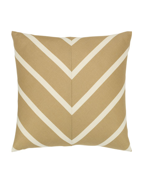 Shine Chevron Sunbrella Pillow