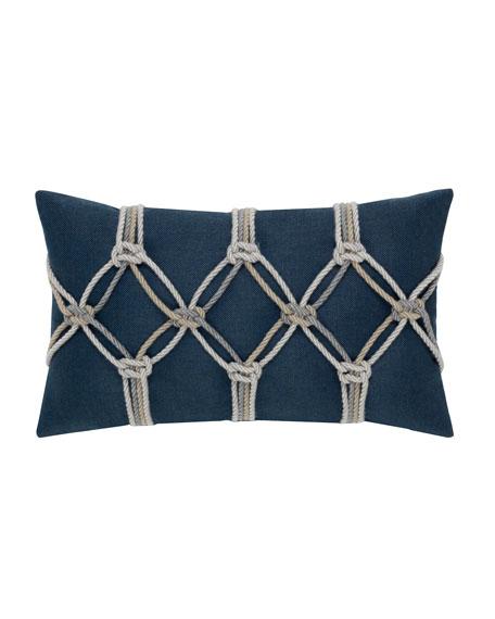 Rope Lumbar Sunbrella Pillow, Indigo