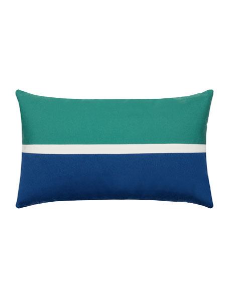 Aquatic Lumbar Sunbrella Pillow, Blue