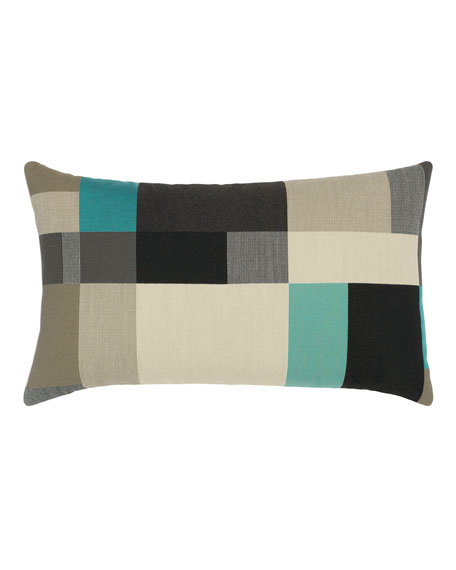 Block Lumbar Sunbrella Pillow, Black