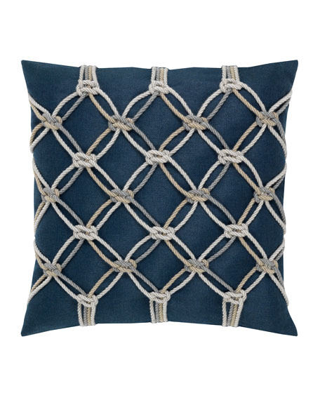Rope Sunbrella Pillow, Indigo