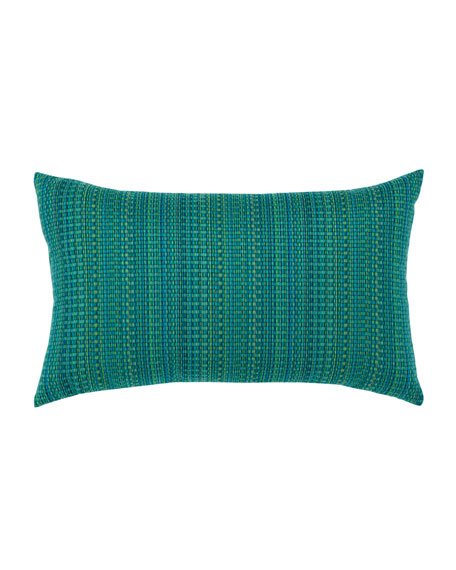 Elaine Smith Eden Texture Lumbar Sunbrella Pillow, Blue