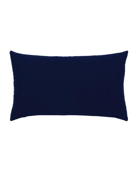 Basketweave Lumbar Sunbrella Pillow, Navy