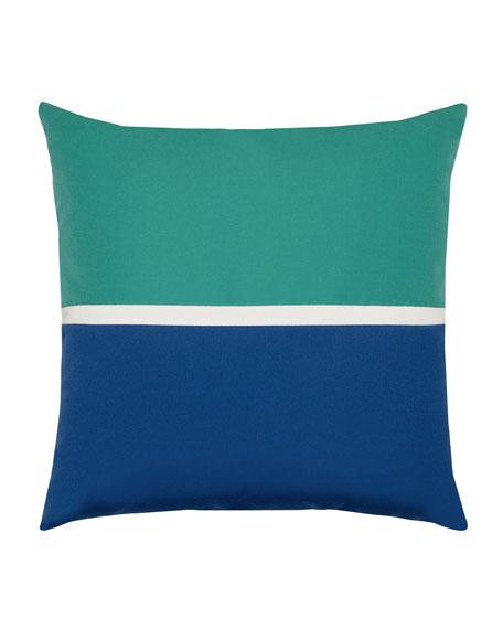 Aquatic Sunbrella Pillow, Blue