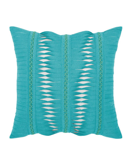 Gladiator Sunbrella Pillow, Turquoise