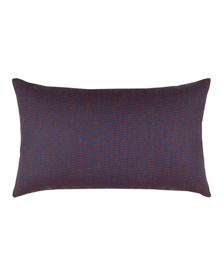 Striation Twilight Lumbar Sunbrella Pillow