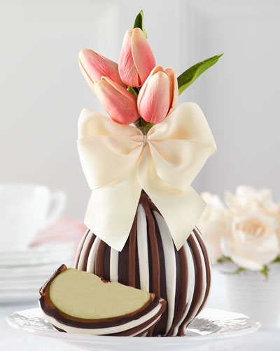 Triple Chocolate Spring Tulips Jumbo Caramel Apple