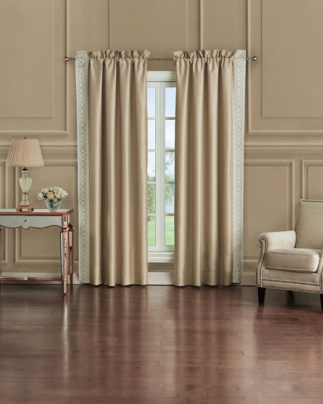 Shelah Sateen Curtain Panels