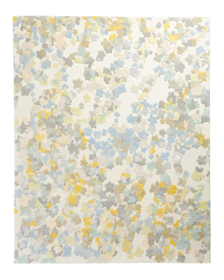 Flowers Hand-Tufted Rug, 8' x 10'