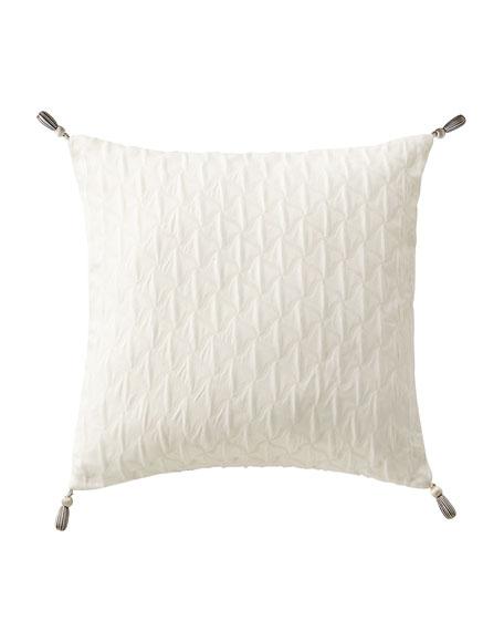 Aidan Square Pillow with Tassel Trim