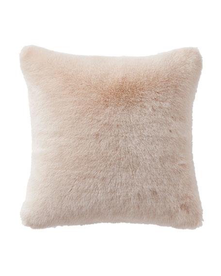 Belissa Faux-Fur Square Pillow