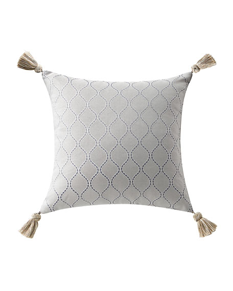 Baylen Square Pillow w/ Tassel Trim