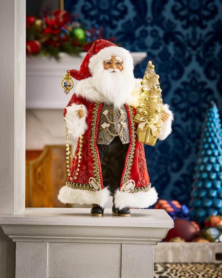 Karen Didion Originals Lighted Traditional Elegance Santa