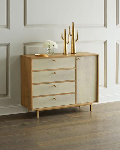 Rylan Faux-Shagreen Dresser