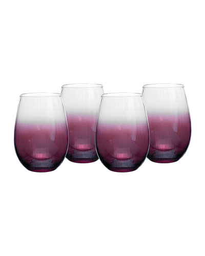 Kingsley Stemless Wine Glasses  Set of 4