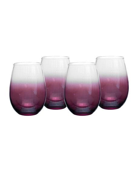 Kingsley Stemless Wine Glasses, Set of 4