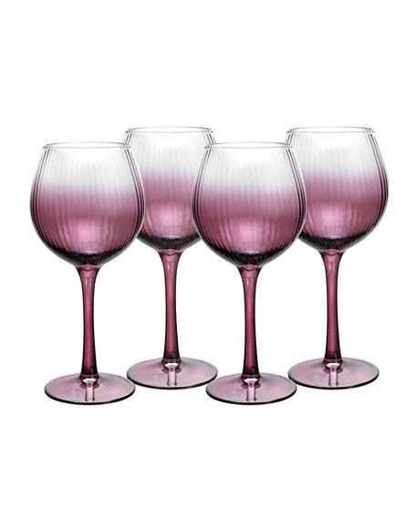 Kingsley Wine Glasses, Set of 4