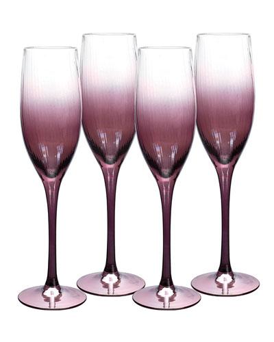 Kingsley Champagne Flutes  Set of 4