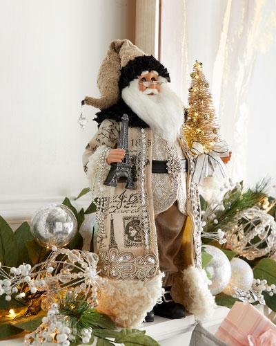 Lighted Paris Elegance Santa