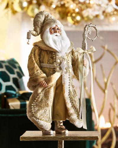 Golden Shimmer Santa