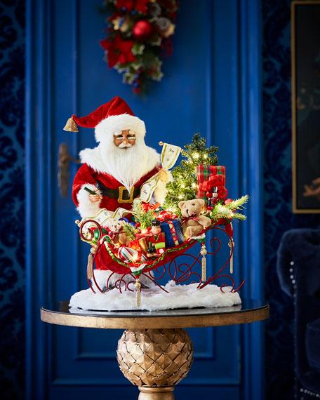 Karen Didion Originals Lighted Christmas Delivery Sleigh