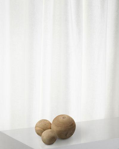 Malibu Wood Balls in Natural Wood  Set of 3