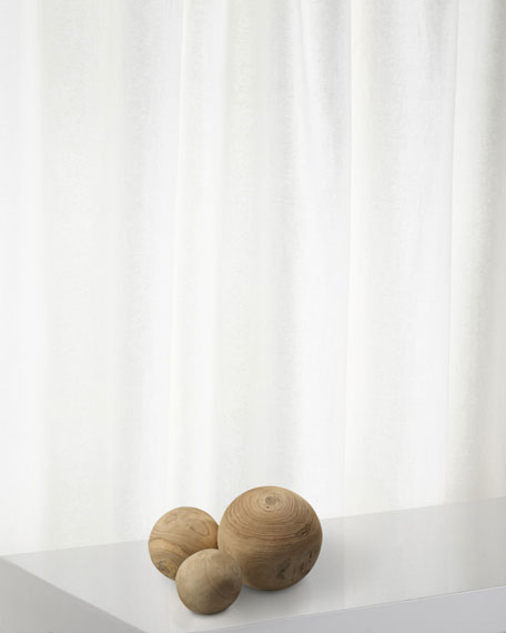 Malibu Wood Balls in Natural Wood, Set of 3