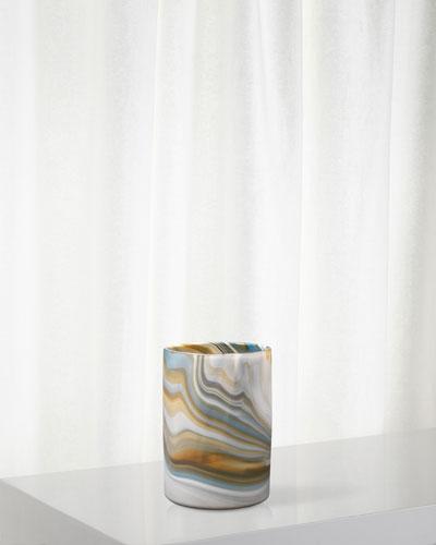 Medium Terrene Vase in Grey Swirl Glass