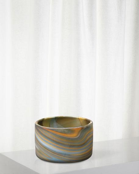 Small Terrene Vase in Grey Swirl Glass